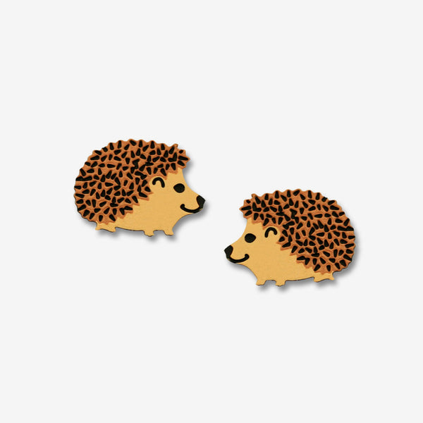 Sienna Sky Post Earrings: Hedgehog