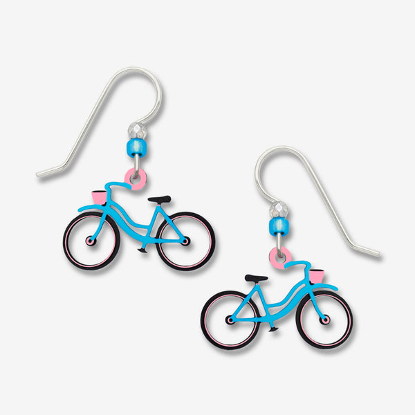 Sienna Sky Earrings: Blue Bicycle with No Spokes