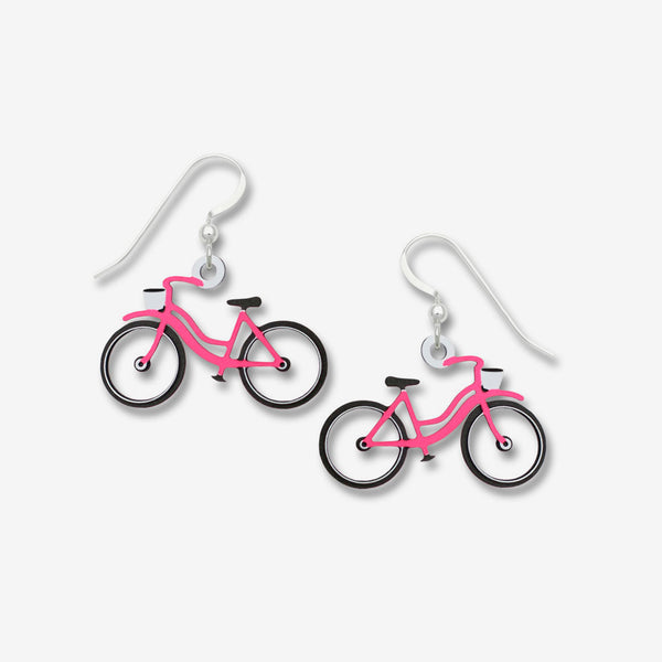 Sienna Sky Earrings: Pink Bicycle with No Spokes