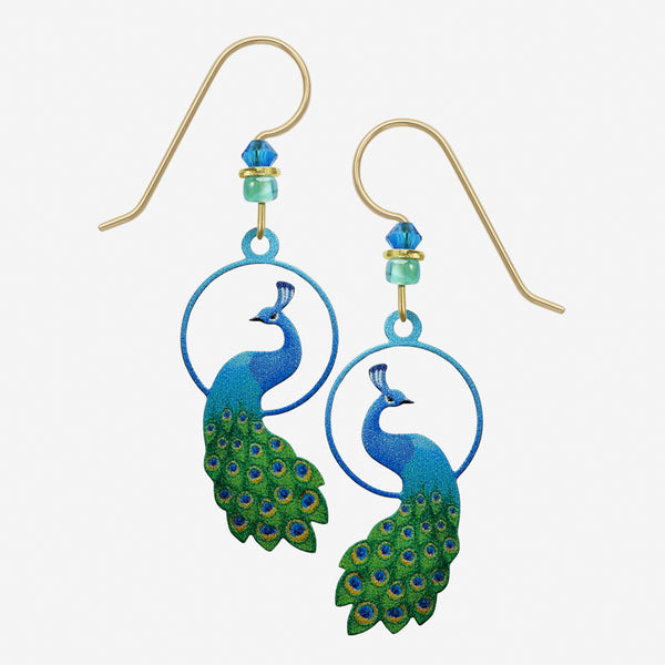 Sienna Sky Earrings: Peacock