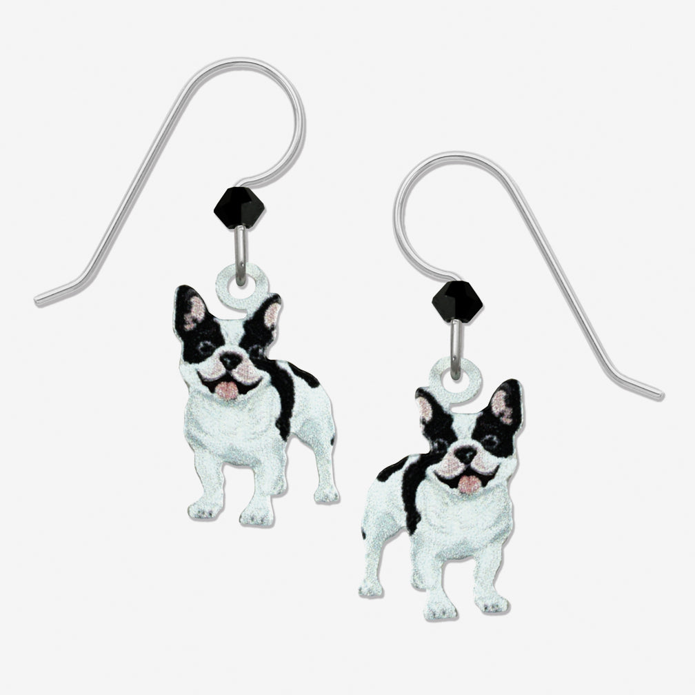 Sienna Sky Earrings: French Bulldog