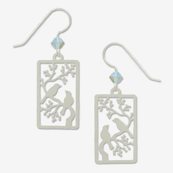Sienna Sky Earrings: IR Two Birds On a Branch