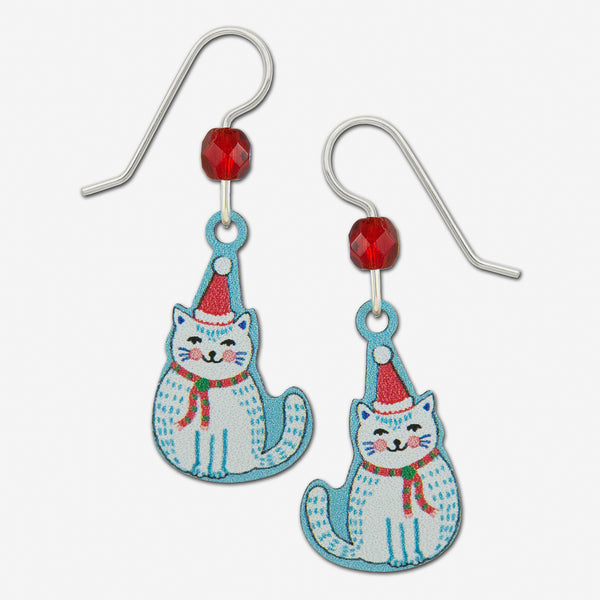 Sienna Sky Earrings: Christmas Cat