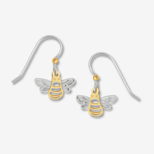 Sienna Sky Earrings: Mini Filigree Bee
