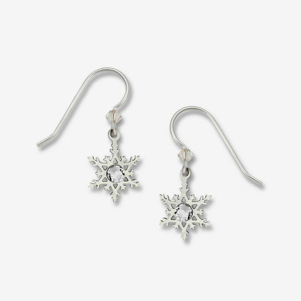 Sienna Sky Earrings: Filigree Snowflake with Crystal