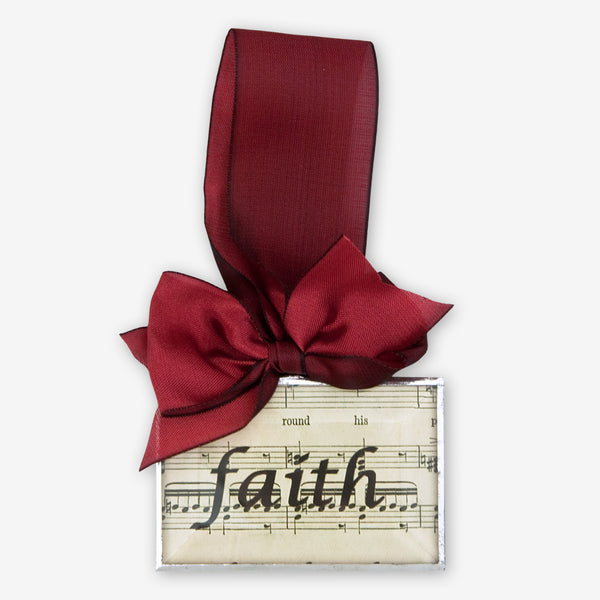 Silhouettes and More: Beveled Glass Ornaments: Faith