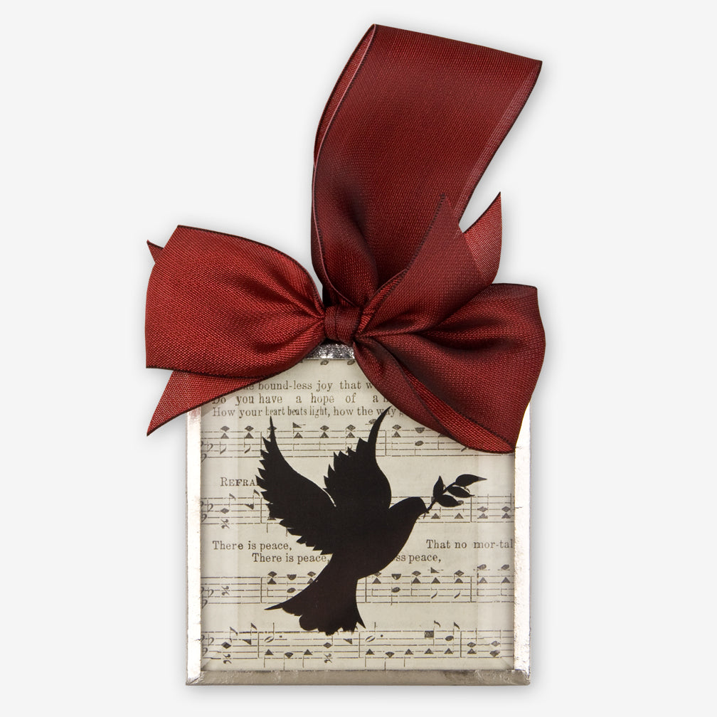 Silhouettes and More: Beveled Glass Ornaments: Peace Dove