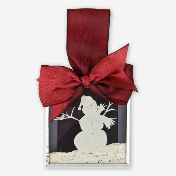 Silhouettes and More: Beveled Glass Ornaments: Snowman