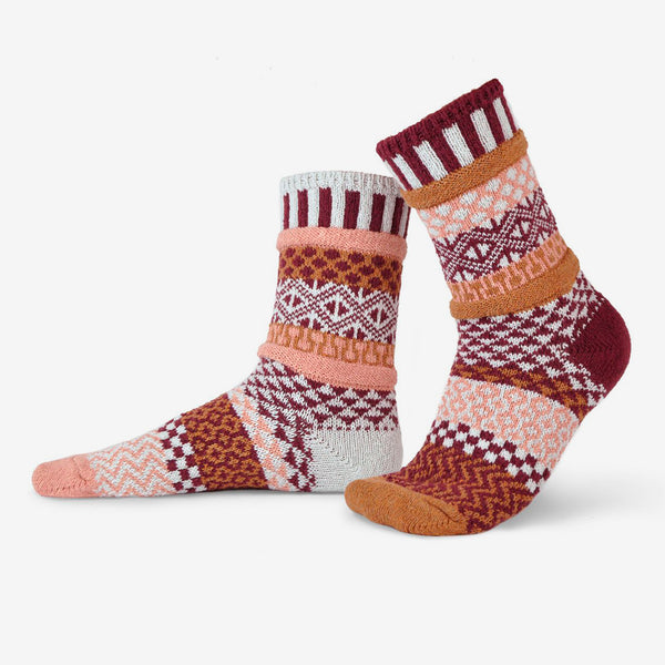 Solmate Socks: Adult Crew Socks: Amaranth