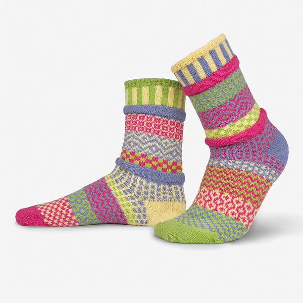 Solmate Socks: Adult Crew Socks: Aster