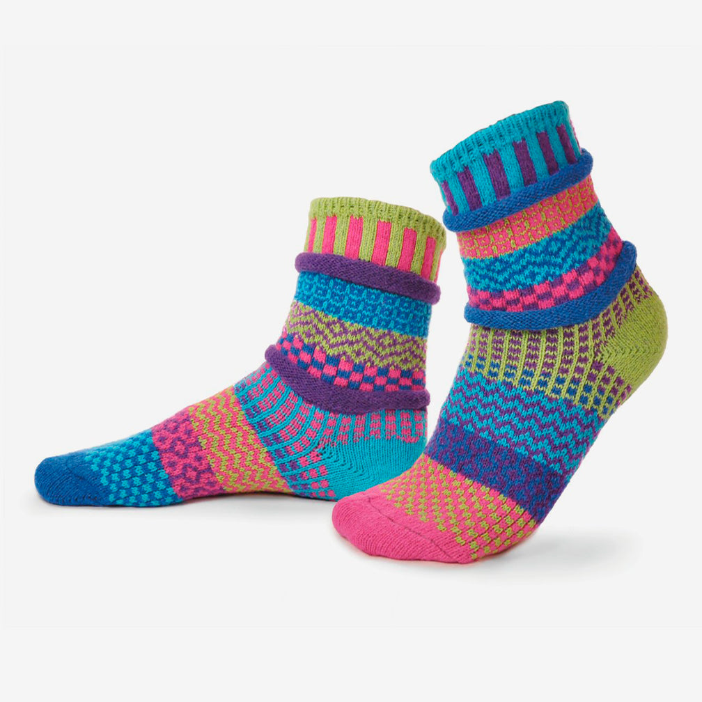 Solmate Socks: Adult Crew Socks: Bluebell