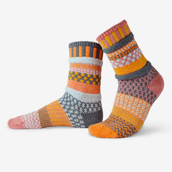 Solmate Socks: Adult Crew Socks: Buckwheat