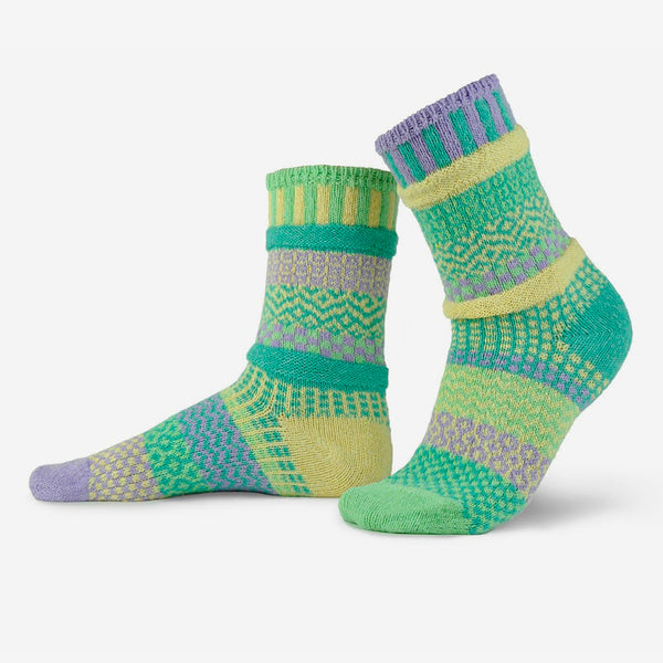 Solmate Socks: Adult Crew Socks: Chick-a-Dee