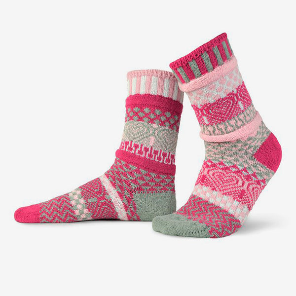 Solmate Socks: Adult Crew Socks: Cupid
