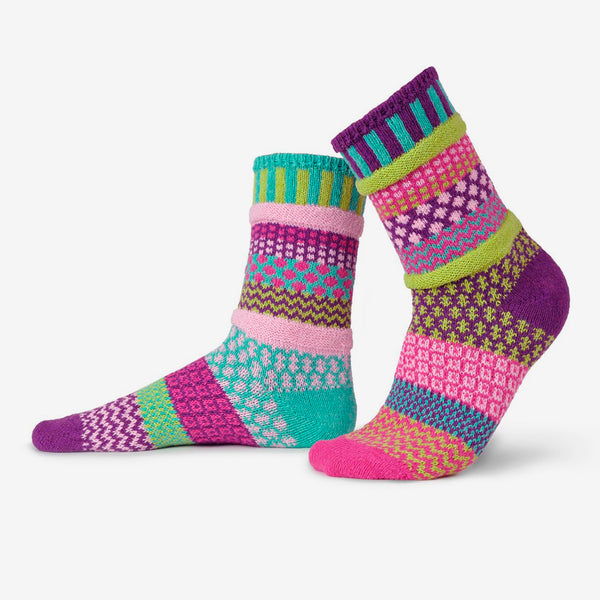 Solmate Socks: Adult Crew Socks: Dahlia