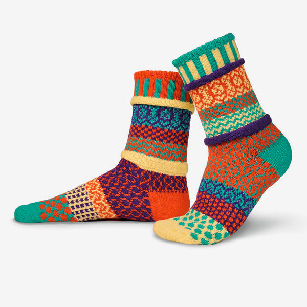 Solmate Socks: Adult Crew Socks: Dawn