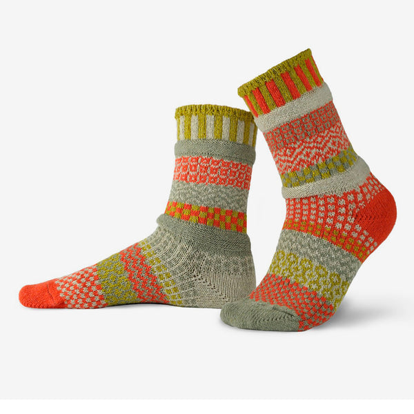 Solmate Socks: Adult Crew Socks: Desert Rose