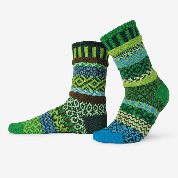 Solmate Socks: Adult Crew Socks: Earth