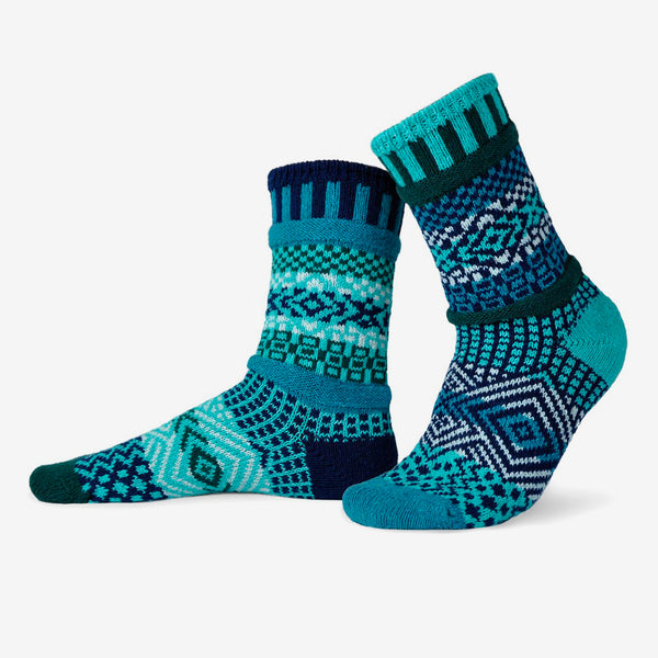 Solmate Socks: Adult Crew Socks: Evergreen