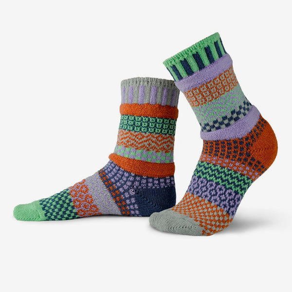 Solmate Socks: Adult Crew Socks: Juniper