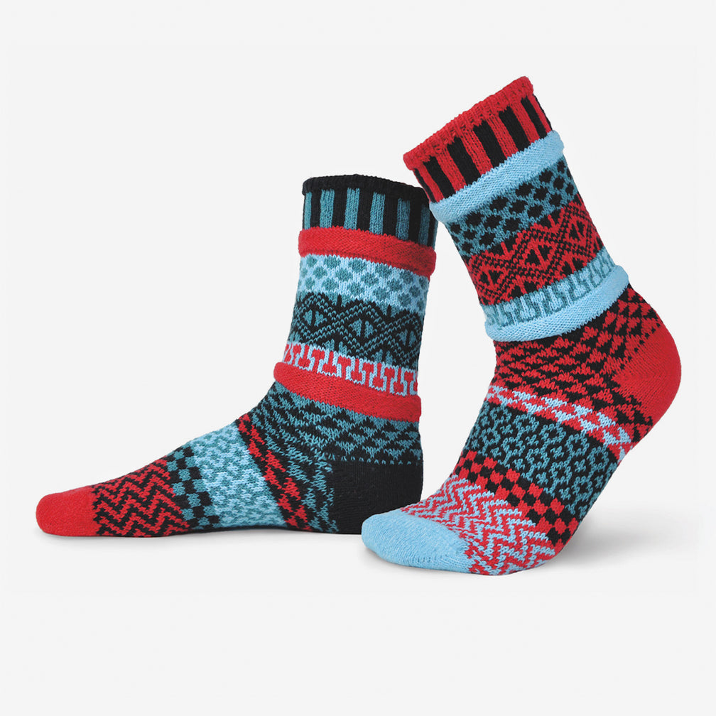 Solmate Socks: Adult Crew Socks: Mars