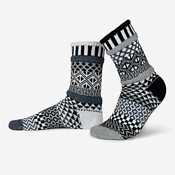 Solmate Socks: Adult Crew Socks: Midnight