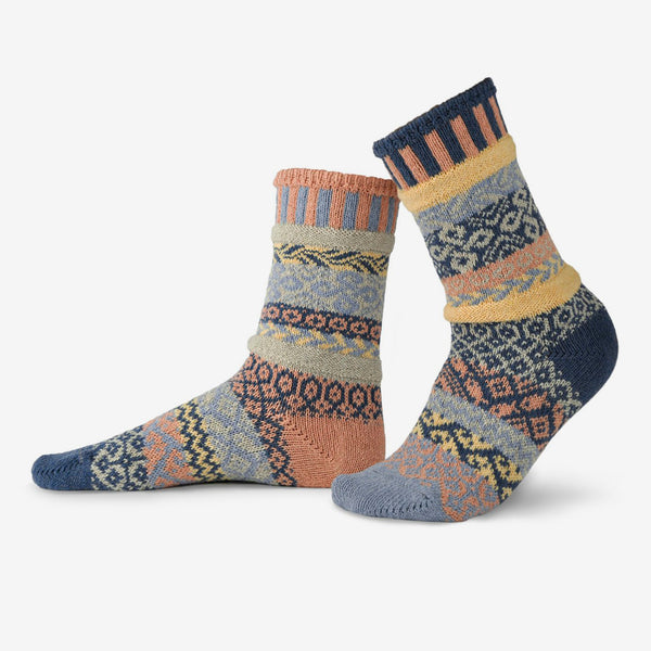 Solmate Socks: Adult Crew Socks: Mirage