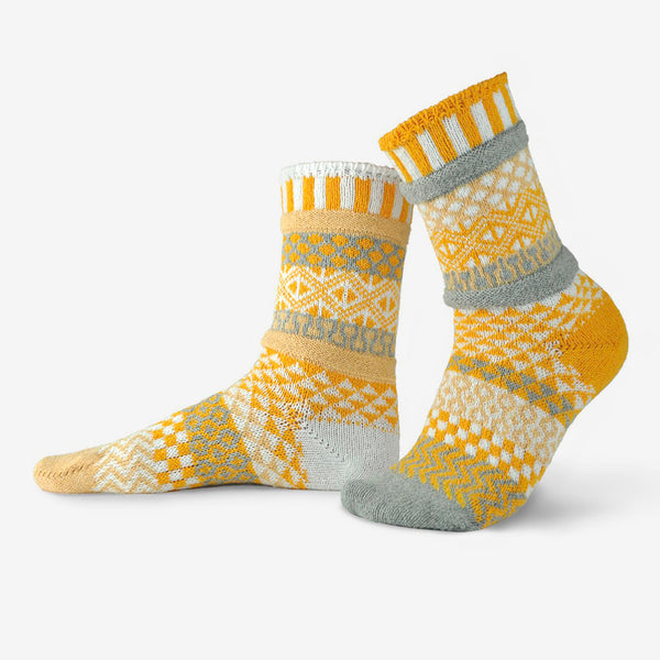 Solmate Socks: Adult Crew Socks: Northern Sun