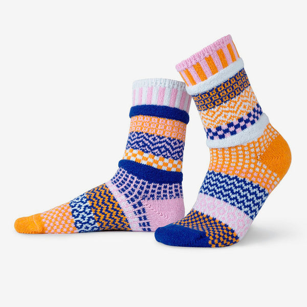 Solmate Socks: Adult Crew Socks: Nova