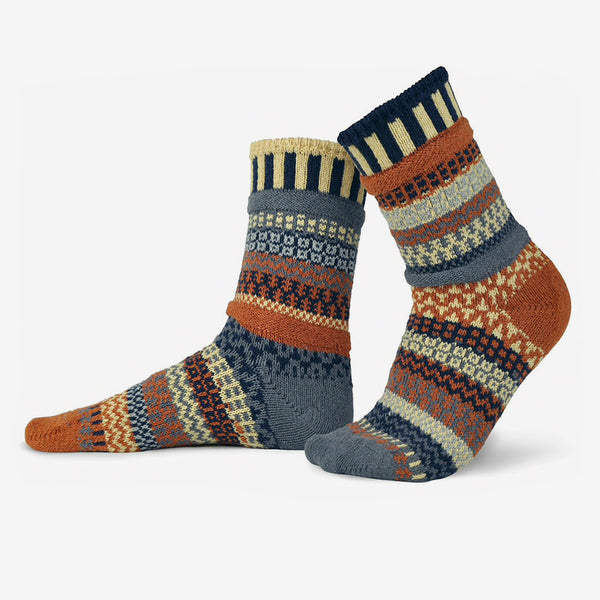 Solmate Socks: Adult Crew Socks: Nutmeg