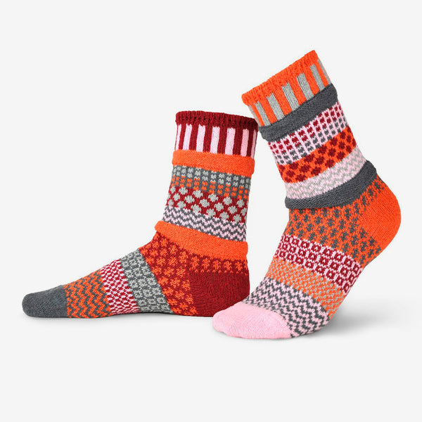Solmate Socks: Adult Crew Socks: Persimmon