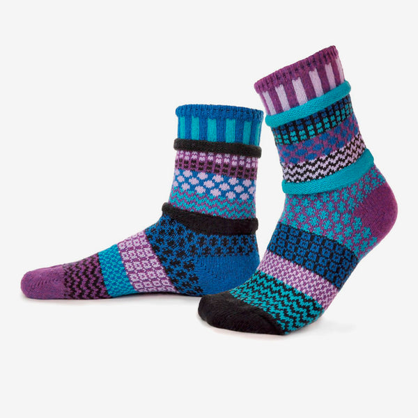 Solmate Socks: Adult Crew Socks: Raspberry