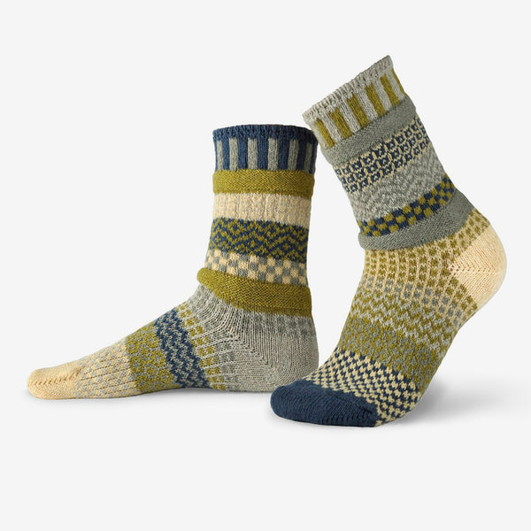 Solmate Socks: Adult Crew Socks: Sagebrush