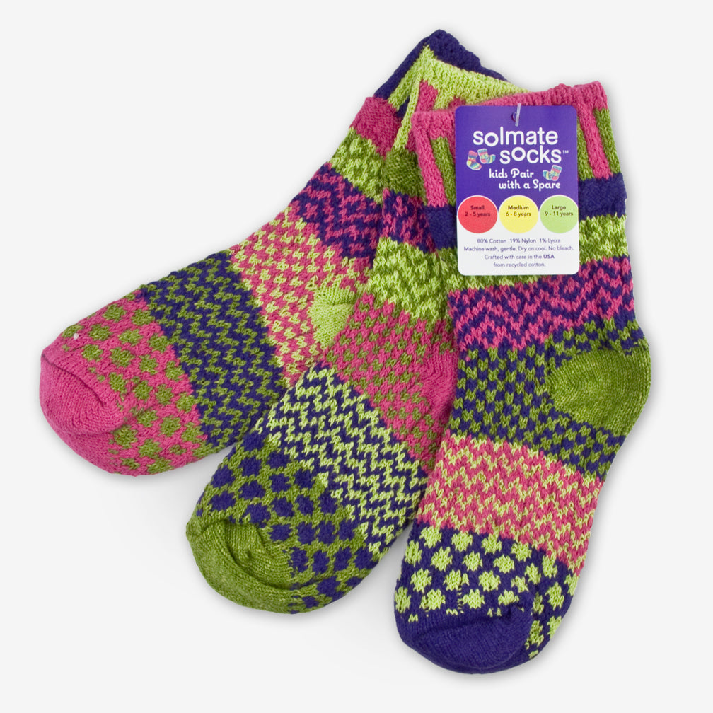 Solmate Socks: Kids Socks: Grasshopper