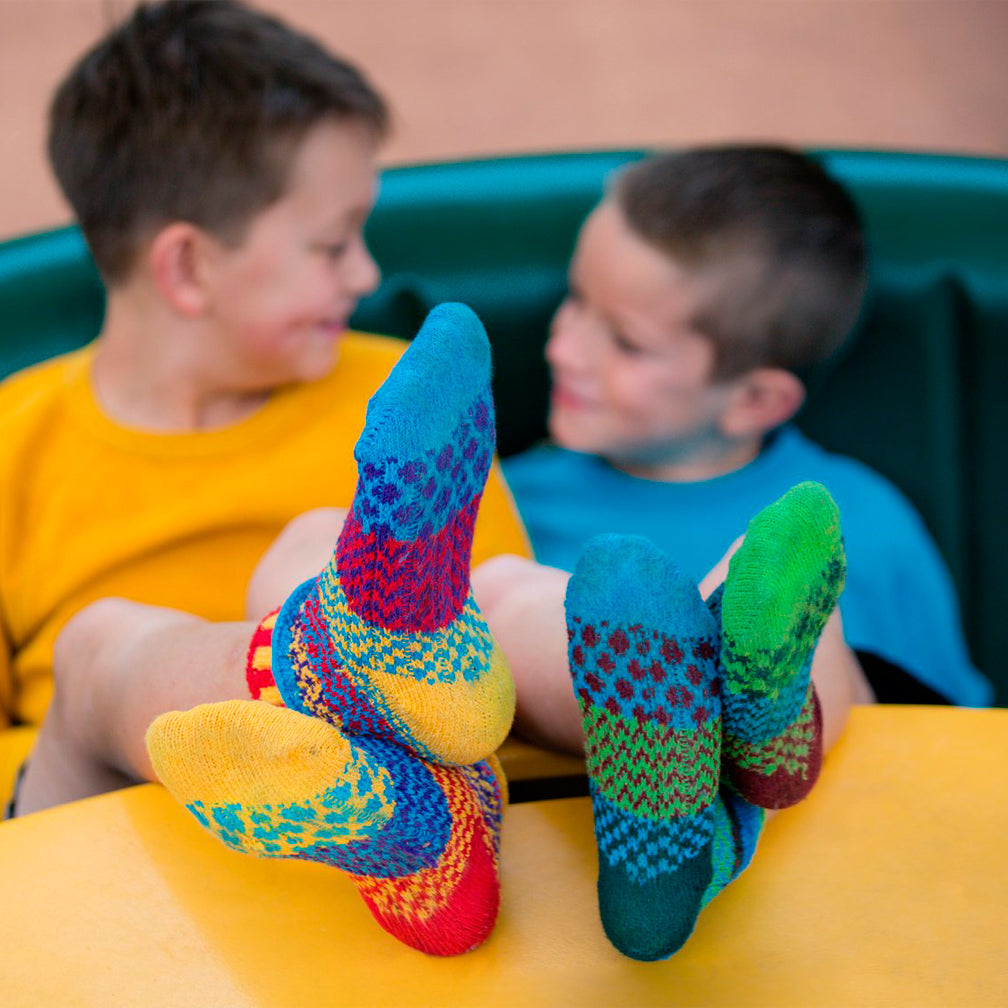 Solmate Socks: Kids Socks: June Bug