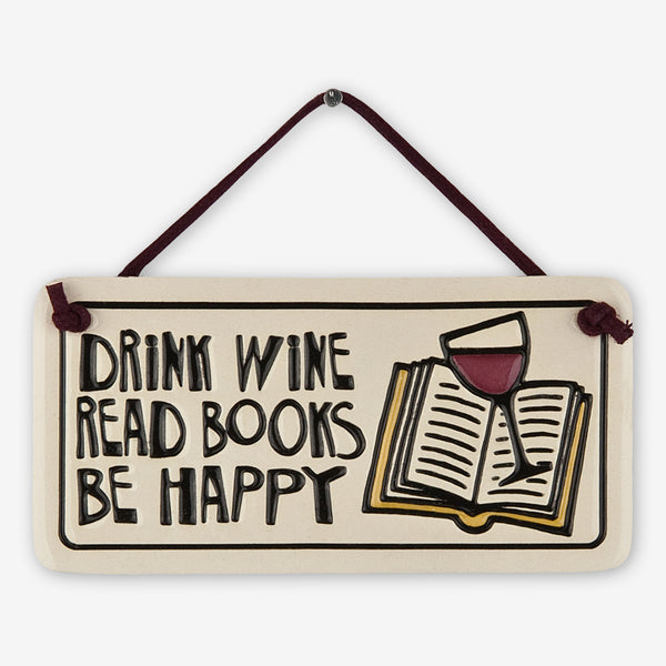 Spooner Creek: Mini Charmer Tiles: Drink Wine, Read Books