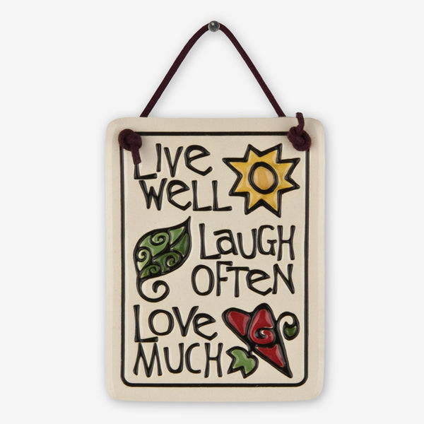 Spooner Creek: Mini Charmer Tiles: Live Well Laugh Often