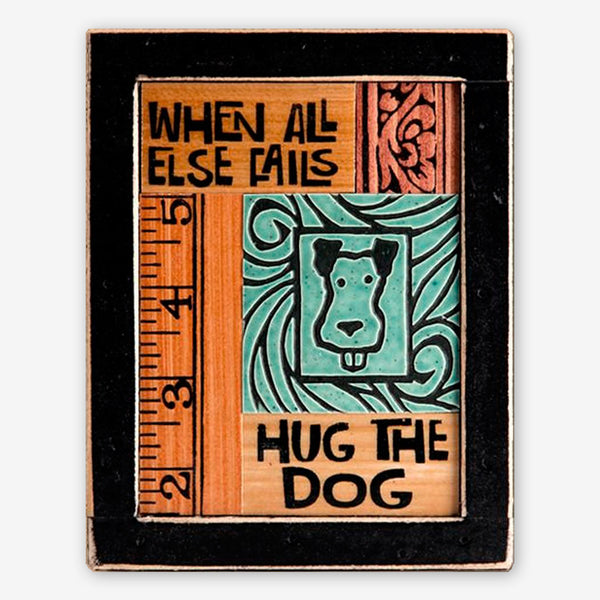 Macone Clay: Collage Art: Hug the Dog