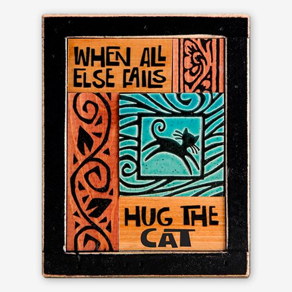 Macone Clay: Collage Art: Hug the Cat