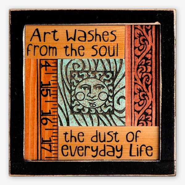 Macone Clay: Collage Art: Art Washes