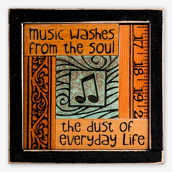 Macone Clay: Collage Art: Music Washes