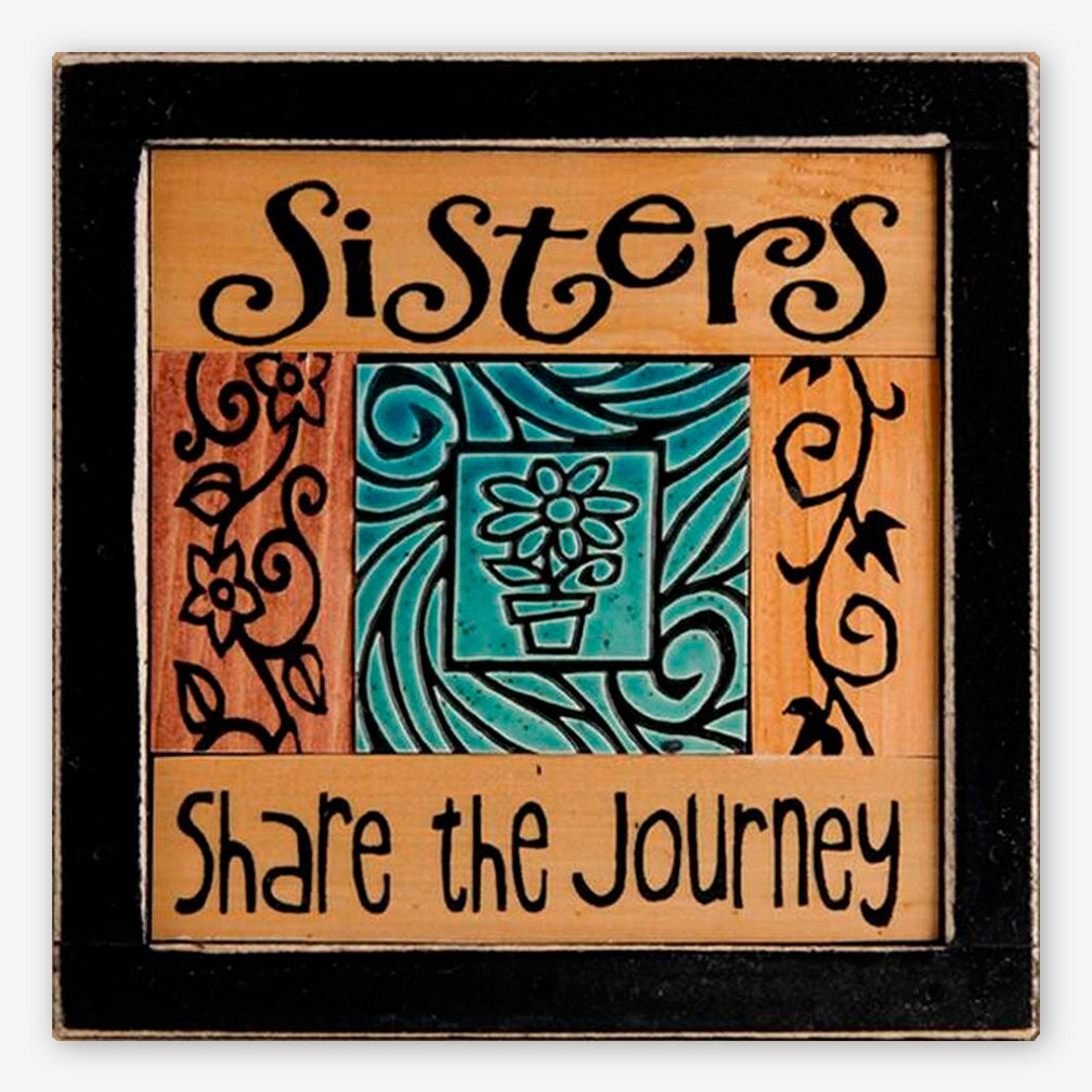 Macone Clay: Collage Art: Sisters Journey