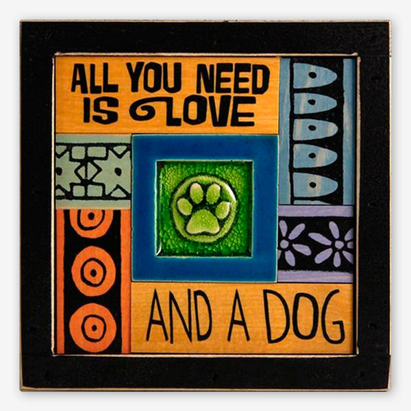 Macone Clay: Collage Art: Love & Dog