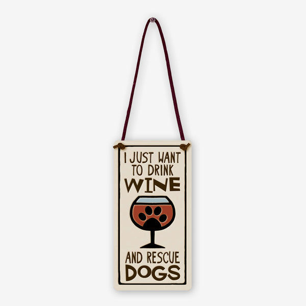 Spooner Creek: Wine Tag Tiles: Drink Wine