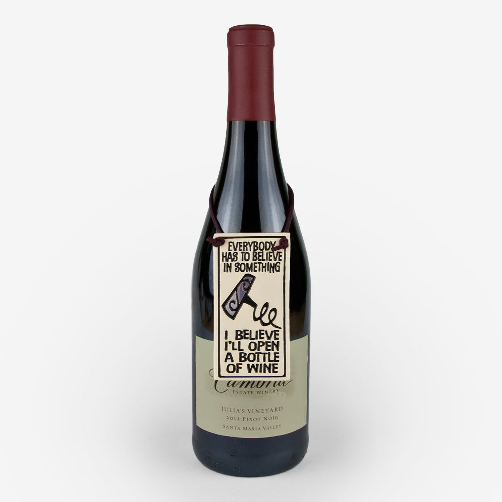 Spooner Creek: Wine Tag Tiles: I Believe I'll Open a Bottle