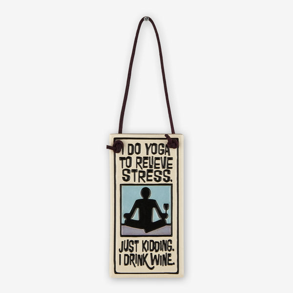 Spooner Creek: Wine Tag Tiles: I Do Yoga