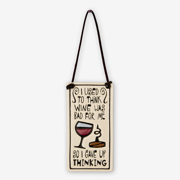 Spooner Creek: Wine Tag Tiles: I Used To Think Wine Was Bad