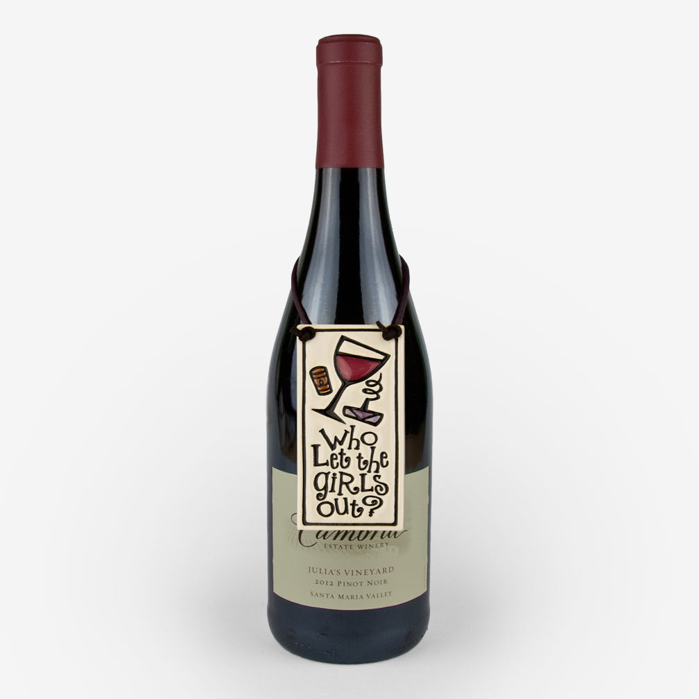 Spooner Creek: Wine Tag Tiles: Who Let the Girls Out?