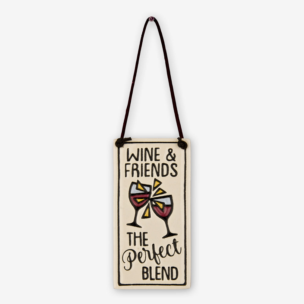 Spooner Creek: Wine Tag Tiles: Wine & Friends The Perfect Blend