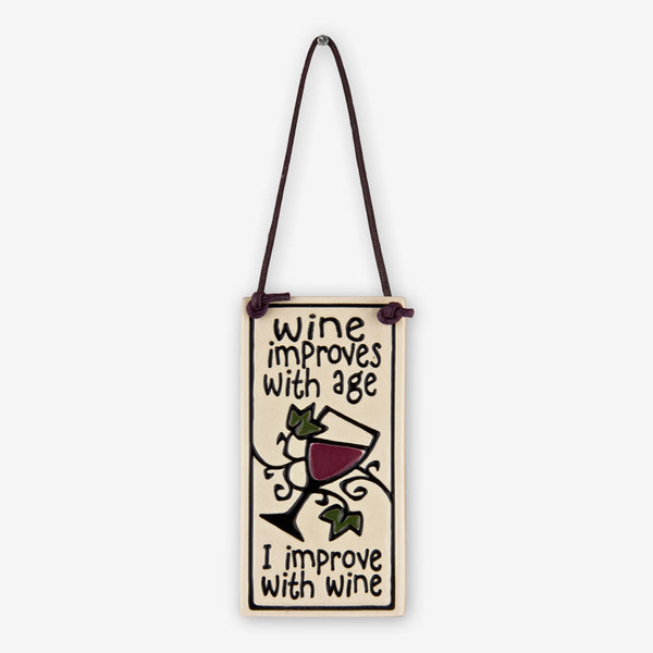 Spooner Creek: Wine Tag Tiles: Wine Improves With Age